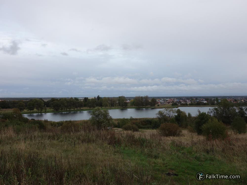 View to pond from Babygon hill