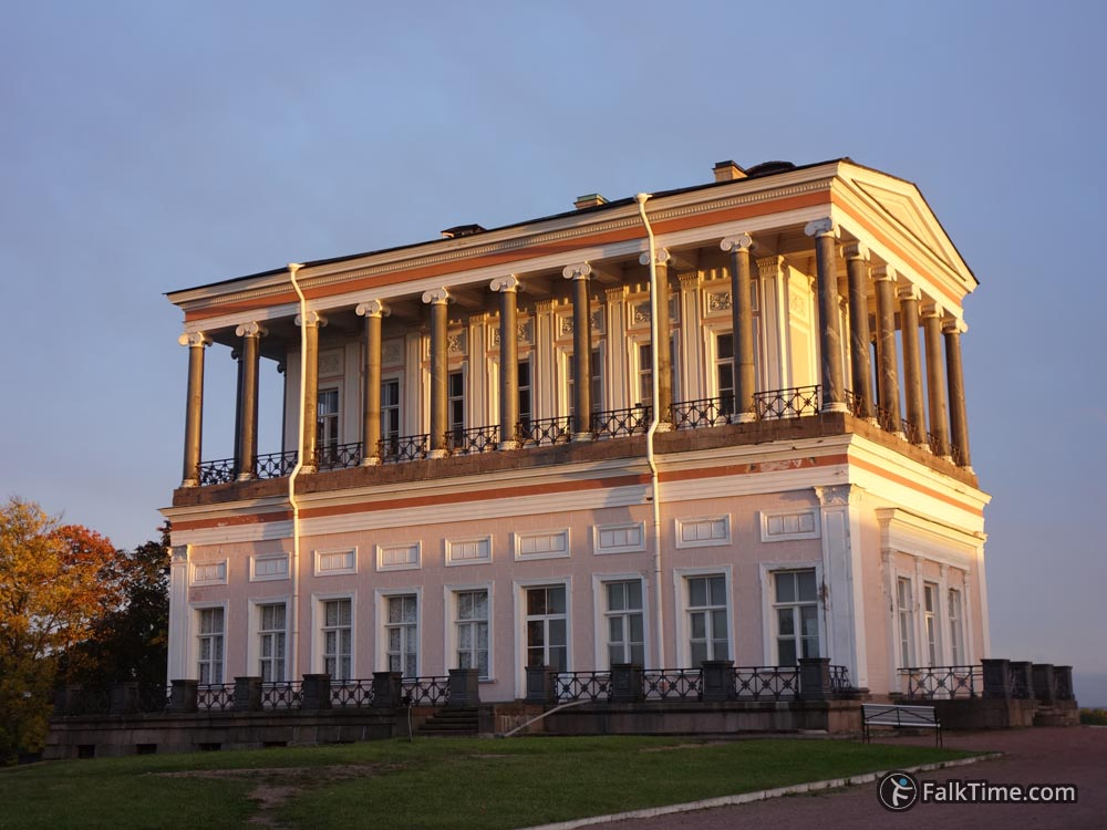 Belveder palace in sunset rays