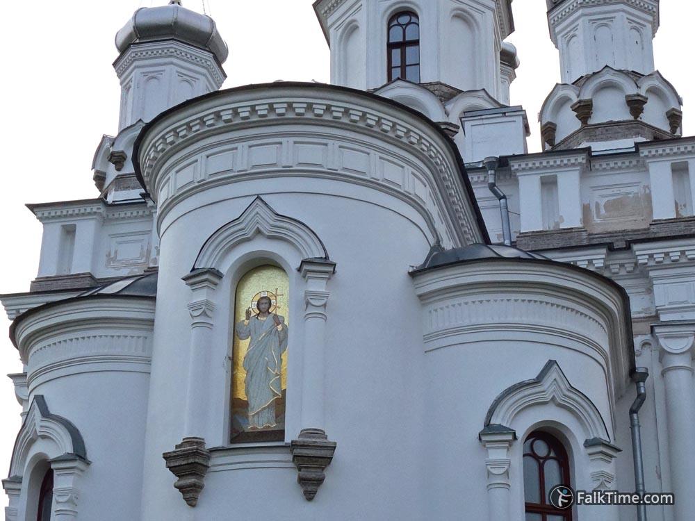Mosaic on facade